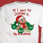 All I Want Personalized Christmas Sweatshirt