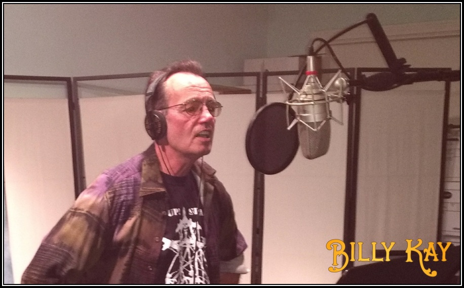 Billy laying down the vocals to You'll Know I'm There
